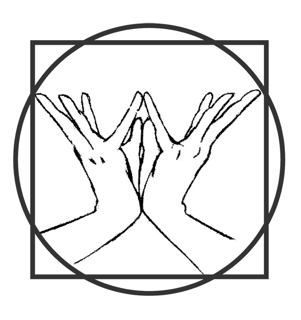 Lotus Mudra Drawing with Squaring the Circle Phi Ratio Sacred Geometry