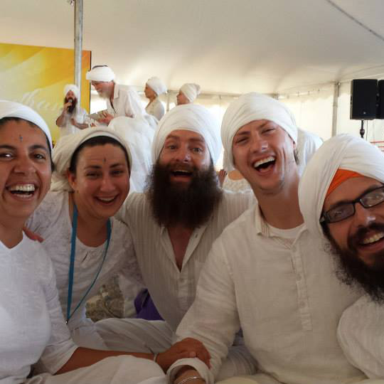 Friends at 3HO White Tantra Winter Solstice