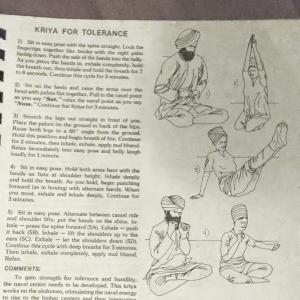 Kriya for Tolerance Illustration